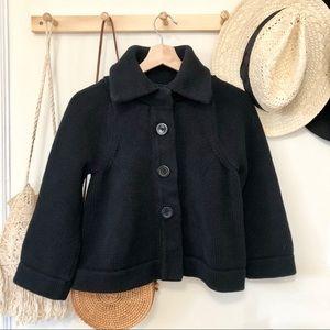 Banana Republic knit black babydoll jacket M